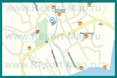 Карта Малореченского с улицами и домами