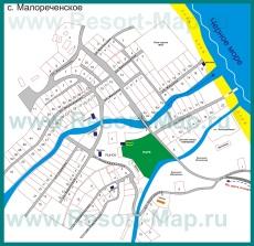 Подробная карта поселка Малореченское