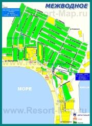 Подробная туристическая карта Межводного с улицами
