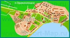 Подробная карта Орджоникидзе с улицами
