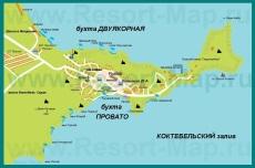 Туристическая карта Поселка Орджоникидзе