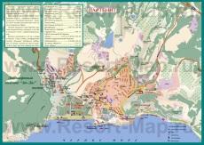 Подробная карта города Партенит с улицами