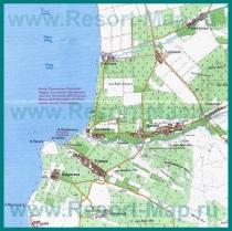 Карта поселка Песчаное с окрестностями