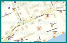 Карта Приморского с улицами и номерами домов