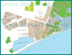 Подробная карта поселка Приморский