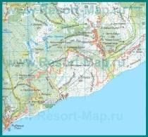 Карта Приветного с окрестностями
