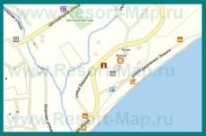Подробная карта поселка Рыбачье с улицами и номерами домов
