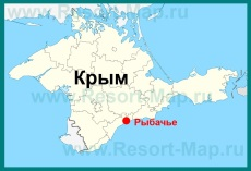 Рыбачье на карте Крыма