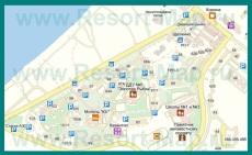 Подробная карта Щёлкино с улицами и номерами домов