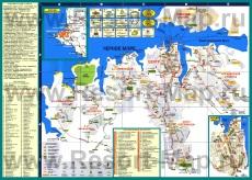Карта Севастополя с пляжами и маршрутами транспорта