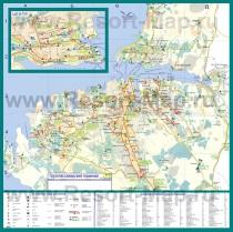 Подробная карта города Севастополь с достопримечательностями