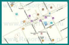 Подробная карта Штормового с улицами