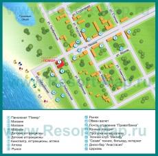 Туристическая карта поселка Штормовое