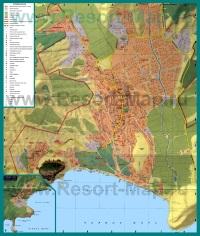 Подробная карта города Судак