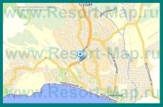 Подробная карта Судака с улицами и номерами домов