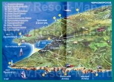 Туристическая карта полуострова (мыса) Тарханкут