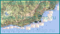 Карта большой Ялты с санаториями