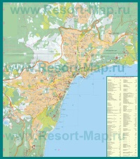 Карта города Ялта с санаториями
