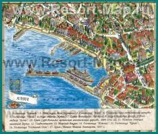 Туристическая карта Ялты с достопримечательностями