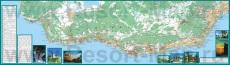 Подробная карта ЮБК с достопримечательностями