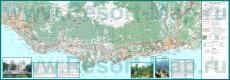 Подробная карта Южного Берега Крыма