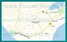 Подробная карта пгт Заозерное с улицами