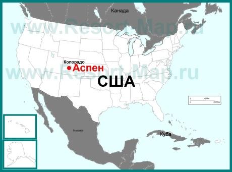 Аспен на карте США