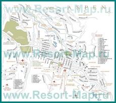 Карта горнолыжного курорта Аспен