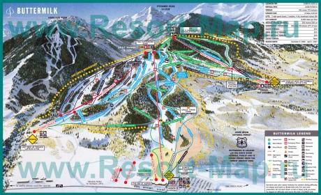 Карта горнолыжных трасс Аспена