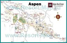 Подробная карта Аспена