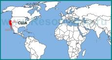 Калифорния на карте мира