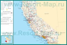 Подробная карта Калифорнии