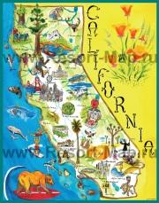 Туристическая карта Калифорнии