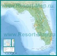 Подробная карта штата Флорида