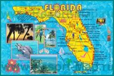 Туристическая карта Флориды с курортами