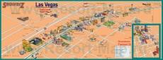 Туристическая карта Лас-Вегаса с казино