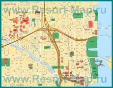 Подробная карта Майами