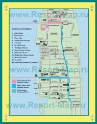 Карта курорта Палм-Бич