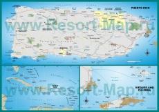 Подробная карта острова Пуэрто-Рико
