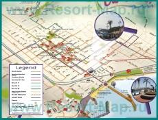 Туристическая карта Санта-Барбары