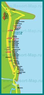 Карта отелей Фантьета