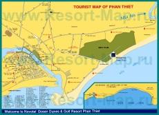 Подробная карта курорта Фантьет