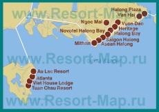 Карта отелей Халонга