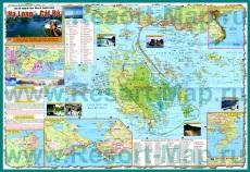 Подробная туристическая карта Халонга