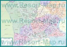 Карта Хошимина с достопримечательностями и отелями