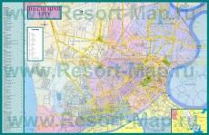 Подробная карта города Хошимин (Сайгон)