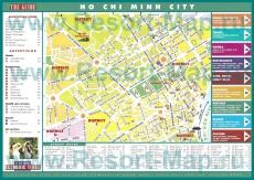Туристическая карта Хошимина с отелями