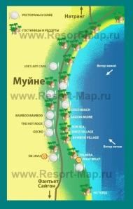 Туристическая карта Муйне