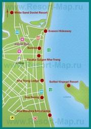 Карта отелей Нячанга