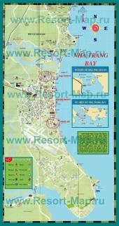 Подробная карта города Нячанг
